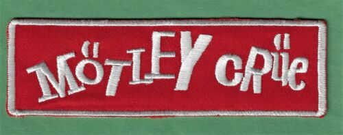"""New Motley Crue 1 1/2 X 5 """" Inch Iron on Patch Free Shipping"""