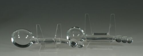 Set of 2 Vintage Imperial Glass Company Crystal Candlewick Ladles c.1945