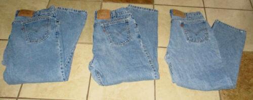 Lot 3 pr Levis 550 Jeans Youth Husky 33x26 Orange Tab Stonewash light blue denim