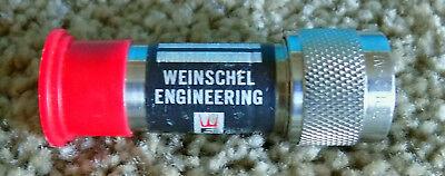 Weinschel Model 2 Fixed Attenuator 3db Free Shipping