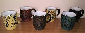 Vintage Retro Stackable Mugs Golden Grove Tea Tree Gully Area Preview
