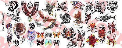 1/6 Scale Custom Tattoos: Animal variety pack - Waterslide D