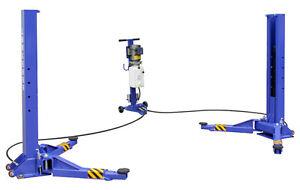 Kernel-6000-Lb-Movable-Rolling-Portable-Two-2-Post-Movable-Auto-Car-Lift-Hoist
