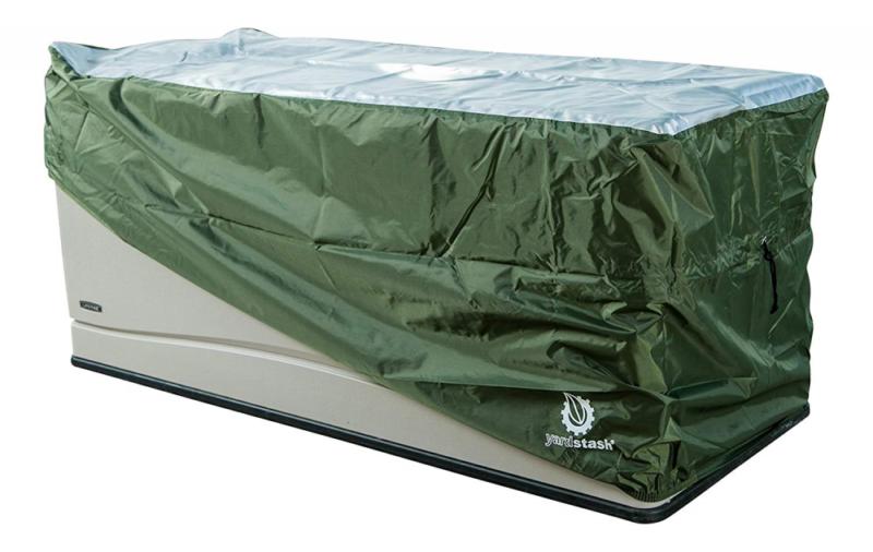 YardStash Deck Box Cover XL to Protect Large Boxes Suncast D