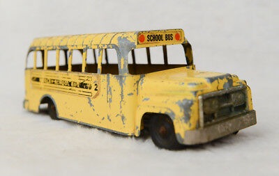 Hubley USA Toy Yellow School Bus Diecast Mighty Metal American Made