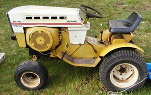 Vintage Sears Suburban Ss16 Twin Riding Garden Tractor Ebay