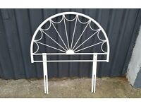 White Metal Headboard for Bed