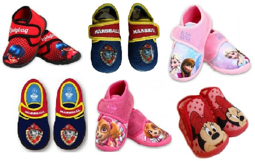 Disney Hausschuhe Frozen Eiskönigin Lady Bug Paw Patrol Minnie Mouse Schuhe