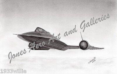 "SR-71 Blackbird /""On the Edge of Night/"" Mark Karvon Giclee Print"