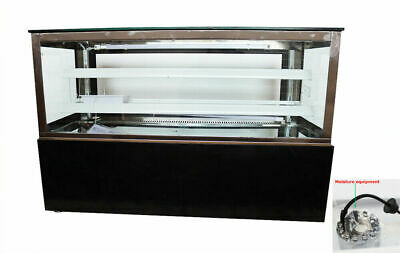 220v 48refrigerated Cake Pie Showcase Bakery Display Case Cabinet With Moisture