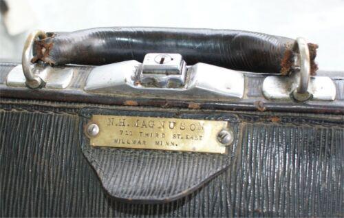 Leather 1900S Traveling Doctor Bag Satchel Antique Medicine Vintage  KLEEBER