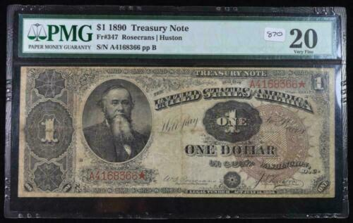 1890 $1 Treasury Note VF20 PMG