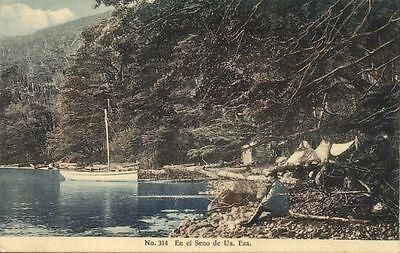 Chile  Magallanes  En El Seno De Ua  Eza   Sailng Boat  1910S  Veiga 314
