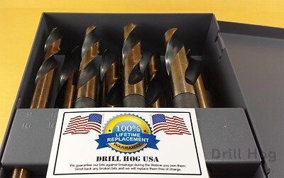 Drill Hog USA Hi-Molybdenum Silver & Deming Drill Bits 8 Pc Lifetime Warranty