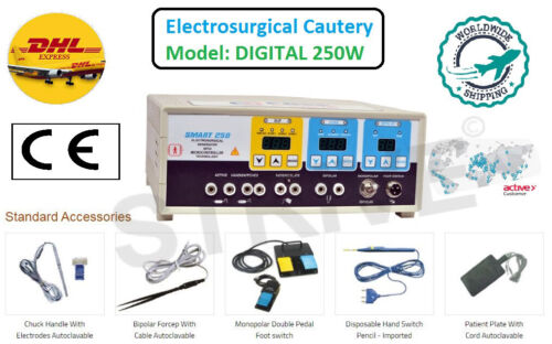 250W Frequency Electrosurgical Unit Diathermy Machine Cautery Electrosurgery