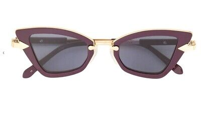 Karen Walker Bad Apple Purple   Metal / Acetate Frame, Cats Eye UVA UV $389 RRP