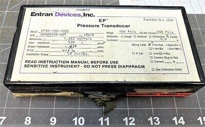 Entran Devices Ep Pressure Transducer 100 Psis Range A9b1