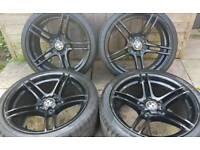 "Bmw 3 series Msport 19"" alloy wheels - style 313 - LCI - Staggered - 5 x 120 - black - genuine"