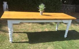 7.6ft Refurbished Farmhouse Table