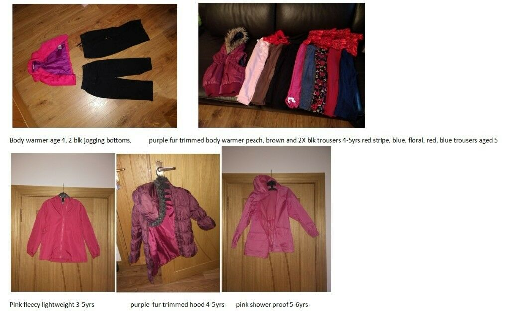 Kids bundle size 4-5 as described below, collect or deliver Stonehaven