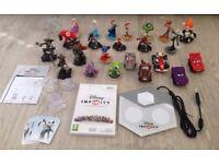 HUGE Disney Infinity Wii Bundle - Figures, Story Crystals, Code Cards, Portal
