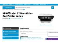 HP OfficeJet 5740 printer. Very good condition.