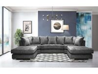 Brand New U Shape Premium Fabric Corner Sofa / Swivel Chair / Footstool
