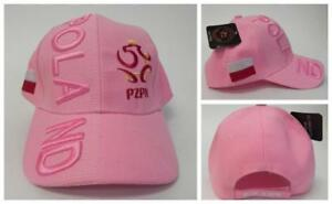 New, FIFA Soccer World Cup Hat Cap, Adjustable One Size Poland Pink