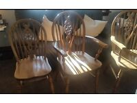 wooden chairs dinning room or kitchen x 4.