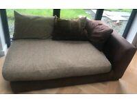 Chocolate Brown DFS Maddison sofa