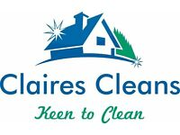 Claires cleans. Domestic and Commercial cleaning, Fully insured and DBS checked. Fully Registered.