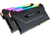 CORSAIR VENGEANCE RGB PRO 32GB (4x8GB) DDR4 3200Mhz Desktop memory – Black