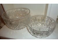 Collection of beautiful cut-glass crystal including two bowls, one vase, a decanter, four glasses