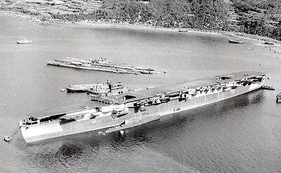 WWII B&W Photo IJN Carrier Unryu WW2 / 7056