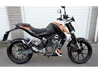 KTM Duke 125 *Learner Legal* *low miles* *Warranty*