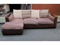 Designer fabric L shape corner sofa