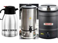20 Litres Electric Soup Kettle in Black for parties, events & weddings. Warm Soup Server with Ladle