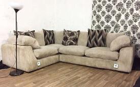 New jumbo cord panama corner sofa FREE DELIVERY
