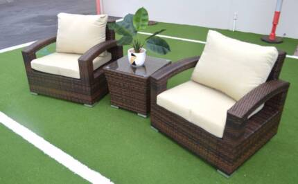 RIO OUTDOOR LOUNGE SET - BROWN WICKER (WAS $1299)