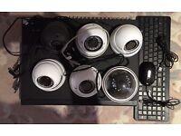 "AVC708H DVR + 6 x Technomate Cameras+ 22"" Samsung Monitor+Camera DC Power Supply"