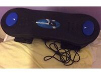 (Blue/Black) Skate / Snow Board & few Games for PS2 Playstation 2