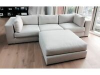SOFA and CHAIR COMPANY 3-seat sofa + ottoman .Originally purchased for £4,800. Excellent condition