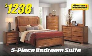 5-Piece Bedroom Suite- Brandy