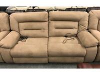 Recliner Suede 3 seater sofa + 2 x Armchairs