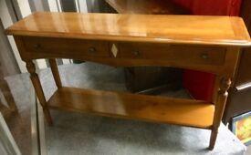 Solid, narrow hall table