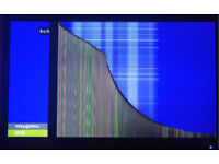Technika 24E21B Full HD Slim 24 Inch LED TV with DVD Combi and Freeview /Cracked Screen