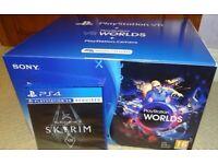 Sony PSVR Bundle Skyrim + VR Worlds + Camera (Brand New)