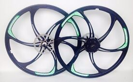 MAGNESIUM ALLOY WHEELS FRONT & REAR MOUNTAIN BIKE WITH CASSETTE 26 INCH
