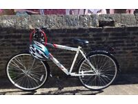 Bike Bicycle in good condition with helmet and lock