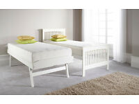 White Wooden Guestbed With Underneath Bed - Brand new never used, free local delivery
